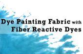 Teñir tela de pintura con colorantes reactivos de la fibra