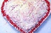 Fácil pastel de corazón de San Valentín