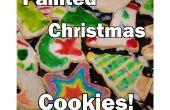 Pintado de galletitas de Navidad vacaciones