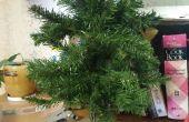 Árbol artificial reutilizar: Guirnalda de la Navidad y el árbol Mini