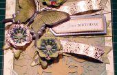 Cómo hacer una mariposa de pavo real 3D en relieve tarjeta