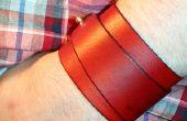 Seample brazalete hecho a mano de moda de cuero.