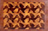 """Haciendo de M.C.Escher """"León alada"""" fin tablero de corte de grano"""