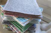 Coser el fieltro y algodón tejido posavasos cuadrados!