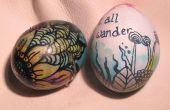 Decoración del huevo: Cera resiste con vinagre y la decolorante