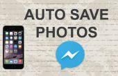 Guardar fotos de Facebook messenger app