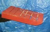 Reciclado madera plataforma trineo