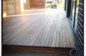 Construcción de un deck de madera