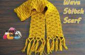Ola puntada bufanda – patrón Crochet gratis