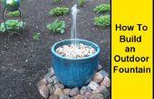 Cómo hacer una fuente al aire libre