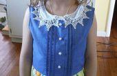 Vintage Vestido de alforzas y pliegues de un toque