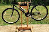 Soporte de bicicleta casero de madera con montaje doble