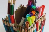 Fácil para hacer 'cajas de lápices' reciclar sus lápices