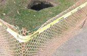Dejar sus perros de los agujeros de excavación