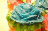 Cupcakes de flor de lujo