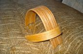 Soporte de ipod de madera doblado