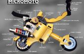 Mini motos portátil plegable MICROMOTO