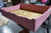 Cama de madera Vintage para perros