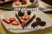 Pizza de frutas de postre DIY Brownie