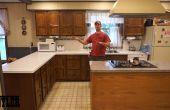 Con el viejo nuevo, acabado de armario de cocina