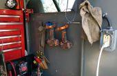 Estante de la herramienta de simple cable de acero