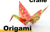Cómo una grúa de origami