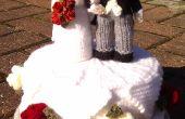 Pastel de bodas de punto