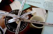 Personalizado impreso cinta utilizando una máquina de escribir