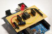 Stripboard Arduino shield para programación ATtiny45 y ATtiny85
