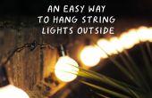 Una manera fácil para colgar cadena luces fuera de