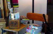 Revistero: escritorio de la vieja escuela