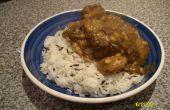 Curry de cabra guisado (Curry de cabra) con lentejas y verduras