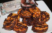 Mordeduras de Pretzel chocolate