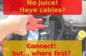 Conseguir listo para coche Jump Start (una lista útil para mantener con los cables)