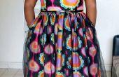 Vintage inspirado vestido con tela de la cera africana