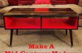 Hacer una mesa de centro estilo moderno de mediados de siglo, fácil y barato