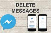 Borrar mensajes en el Facebook Messenger