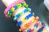 Arco iris pulsera de telar sin arco iris telar con objetos comunes de hogar