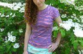 Shibori dyed camiseta... usando lejía!