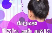French Twist pelo estilo Tutorial para principiantes!!!