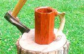 Cómo hacer una taza de pisos de madera dura chatarra