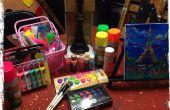 Cómo tener en casa una fiesta de arte resplandor