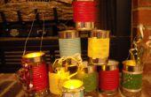 Navidad regalo de linternas de cubos de latas (reciclaje)