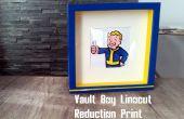 Fallout Linograbado reducción impresión