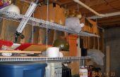 Colgar estanterías de alambre