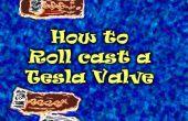 Cómo liar un Tesla válvula o la espuma método de prototipado roll-cast de arcilla el sello