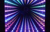 Espejo infinito del LED, 32 LED, patrones seleccionables, marco de la calidad