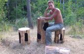 Quemado agujeros muebles para su jardín