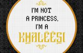 Juego de tronos - yo no soy una princesa, soy una khaleesi - gratis Cruz PDF puntada