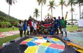 Banderas de color de agua gigante | workshop experience